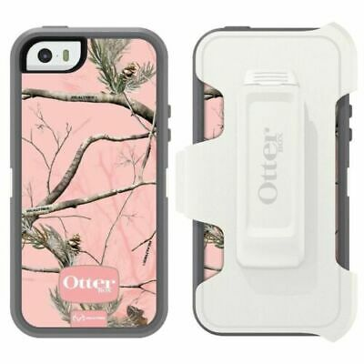 New! OtterBox Defender for Apple iPhone 5/5S/SE Case with Clip - AP Pink