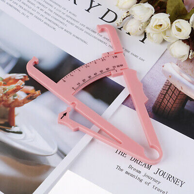 1PC Body Fat Caliper Body Fat Tester Skinfold Measurement Tape with Measuring-x