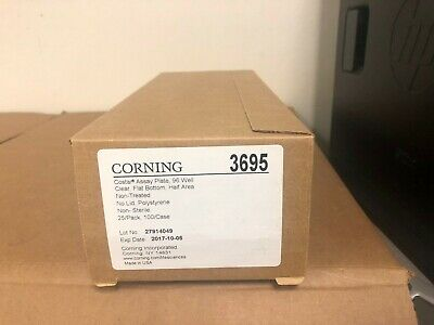 Corning 3695 Costar Assay Plate 96 Well clear Flat Bottom Half Area