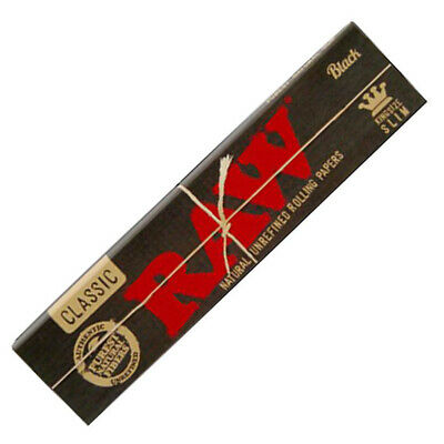 RAW Black Rolling Papers Classic King Size Slim Booklets