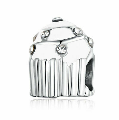 NEW European Silver plated Charm Bead Fit sterling 925 Necklace Bracelet D#143