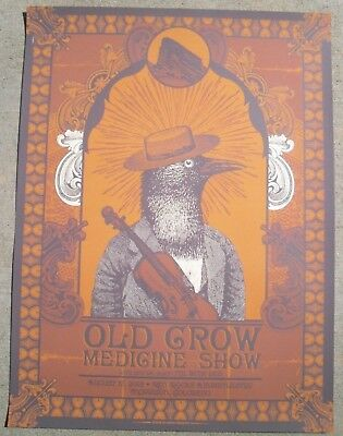 OLD CROW MEDICINE SHOW 2018 Red Rocks Colorado 18x24 Concert Poster #'d /150
