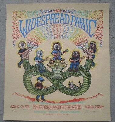 WIDESPREAD PANIC Red Rocks 2018 Poster #d /300 Show Edition Print Marq Spusta