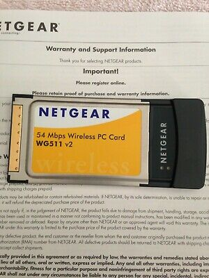 NETGEAR 54 MBPS WIRELESS PC CARD WG511V2 DRIVERS FOR WINDOWS DOWNLOAD