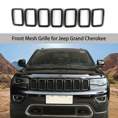 Black Voodonala 7pcs Front Grille Trim Inserts Grill Cover for Jeep Renegade 2015 2016 2017 2018
