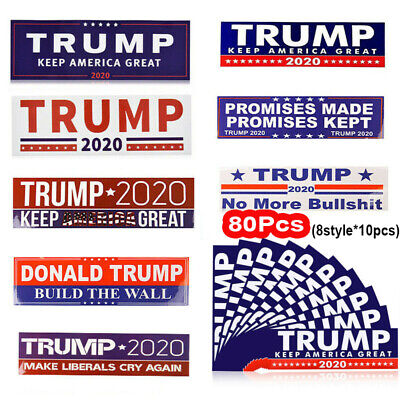 80x Donald Trump 2020 President  Keep Make America Great Car Bumper Stickers US