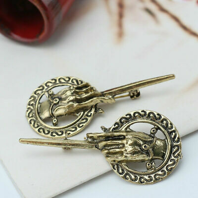 2x Gift Game of Thrones Hand of King Suit Shirt Bronze Alloy Brooch Pin TGV