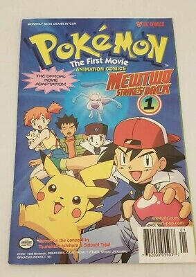 Pokemon The First Movie Comic Mewtwo Strikes Back Number 1 Rare 1998