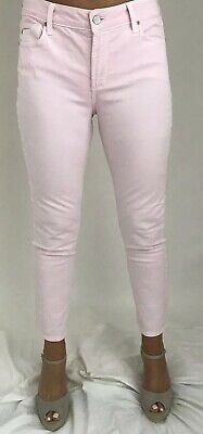 "NYDJ Pale Pink Coloured 28"" Ankle Straight Leg Jeans US 8 UK 12"