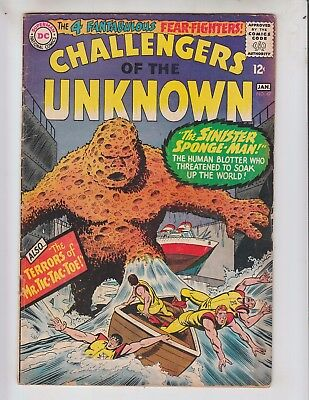 Challengers of the Unknown 47 VG+ (4.5) 1/66 1st Sponge Man!