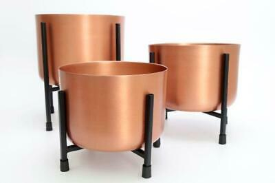 Large Copper Metal Aluminium House Plant Flower Pot Display Stand Planter Holder