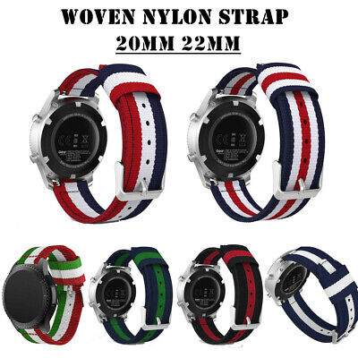 20mm 22mm Woven Nylon Watch Band Sport Strap for Samsung Galaxy 42/46mm Gear S3