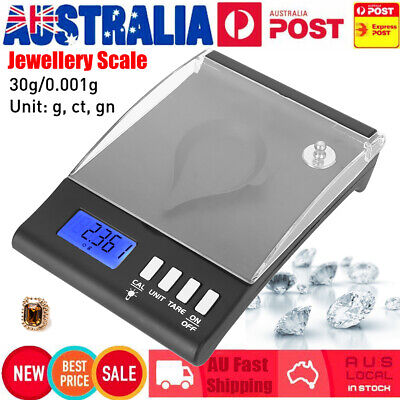 Pocket Digital LCD Scale 30g/0.001g Jewelry Gold Silver Gram Medicine g, ct, gn