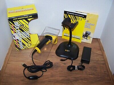Wasp WLR-8905 Pro Long Range CCD Bar Code Scanner (USB) w/ Hands-Free Stand