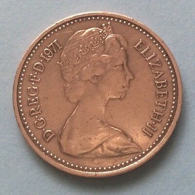 1971 Queen Elizabeth Ii Decimal Half Penny Coin 49Th Birthday / Anniversary