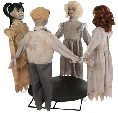 Ring Around The Rosie Animated Prop Dolls Playground Haunted House Halloween