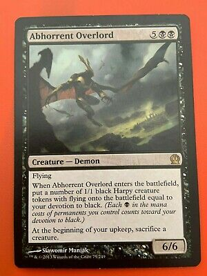 Theros SP or Better Mtg ~Flipside2~ 4x Abhorrent Overlord