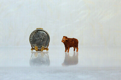 Leiner Dollhouse Miniature Tiny Sheep or Lamb w// Cream Fleece /& Brown Face by S