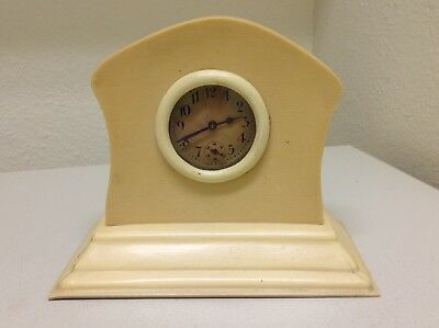 Antique CELLULOID Table / Mantle Clock:  Made in USA