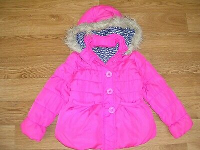 GEORGE Girls Pink Hooded Padded Winter Coat School Jacket Age 5-6 116cm
