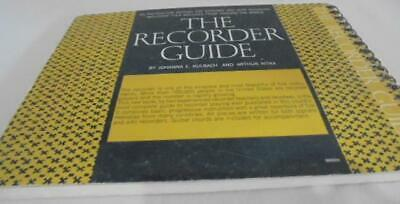 Vintage The Recorder Guide Spiral HC Book Good Condition by Kubach & Nitka 1965