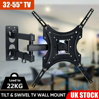TV Wall Bracket Tilt Swivel Mount For 32 38 40 42 46 48 50 55 Plasma LCD LED LG