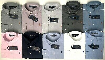 Polo Ralph Lauren New Men's Genuine Slim Fit Long Sleeve Casual Oxford Shirt