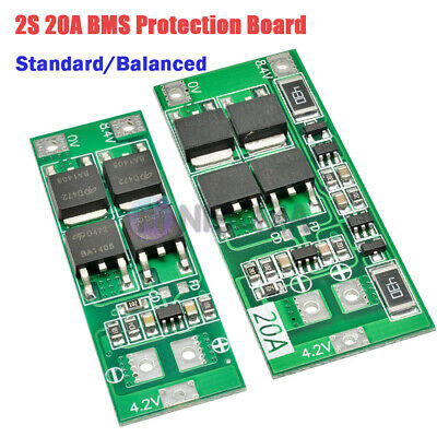2S 20A 8.4V 18650 Lithium Battery Charger BMS Protection Board Balanced Standard