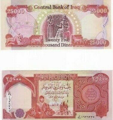 25000 Iraqi Dinar Note-Official Iraq Currency Uncirculated