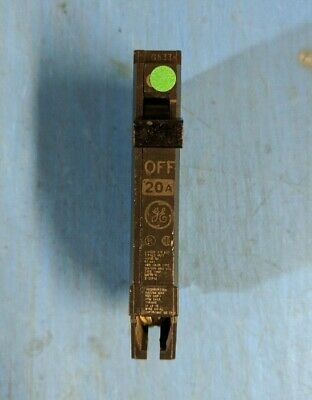 Thqp120 -General Electric/Ge 20A Amp 1P Pole 120V Thqp Thin Circuit Breaker -Nnb