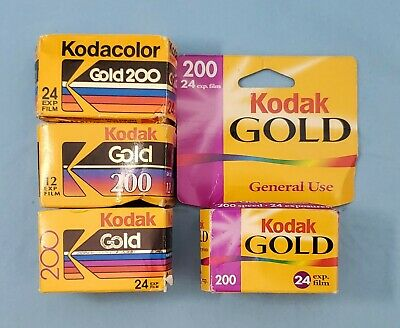 4 Rolls x 24/12 Exp ~ Kodak Gold 200 Film ~ 84 Exposures, Exp 1992-2001