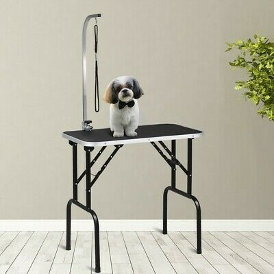 """32"""" Adjustable Folding Pet Dog Grooming Table with Arm & Noose PS7112"""