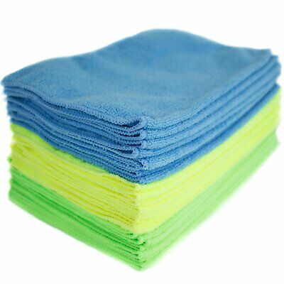 Microfiber Cleaning Cloth Anti Scratch Rag Towel Car Detailing Polishing 24 Pack