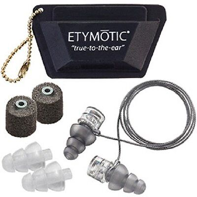 ETYMOTIC Research High Fidelity Ear plugs ER20XS-UF-C Universal Fit, 3 pairs