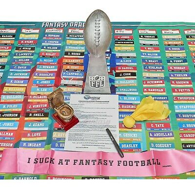 2019 Fantasy Football Draft Board Kit w Lombardi Trophy, Loser Trophy and more!