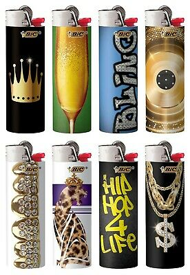 BIC Special Edition Hip Nation Series Lighters Set of 8, 2019-2020 Designs New!