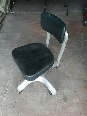 Mid Century steel Chair  Adjustable  Lawyer  gift art craft office airplane