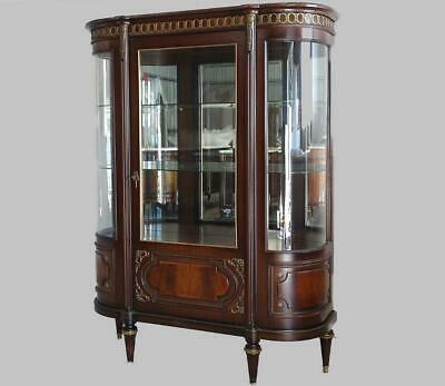 Antique Vintage French  Louis XV China Cabinet Vitrine  Walnut, imported France