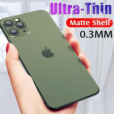 Matte Transparent Ultra-Thin Slim Case Cover Skin For iPhone 11 Pro Max XS XR X
