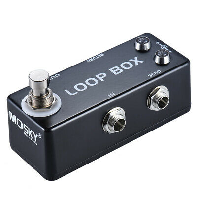 MOSKY Loop Box Guitar Looper Effect Pedal True Bypass Durable Zinc-Aluminum
