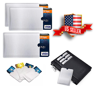 RFID Blocking Sleeve For Credit Card Protector Anti Theft Safety Shield 12-50Pk