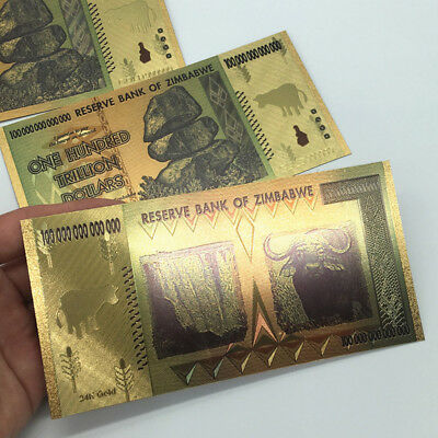 2x 100 Trillion Zimbabwean Dollar Commemorative Banknote Non-currency Collection
