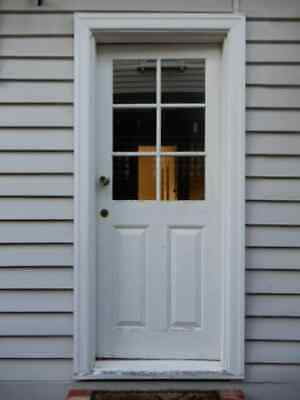 EXTERNAL DOOR - Colonial Style 820w x 2040h with key now removed, 2p