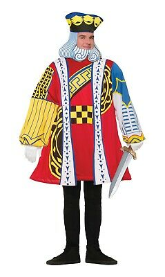 Adult's King Of Hearts Cards Costume Men's Fancy Dress
