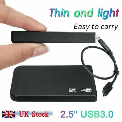USB 3.0 2TB External Hard Drive Disk 2.5'' HDD For PC Laptop Black Portable