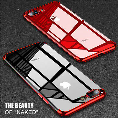 Antichoc Housse Coque Brillant Slim Transparent Pour iPhone XS Max XR X 7 8 Plus