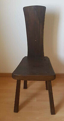 Chair Brutalist Years 50-60 Wooden Solid