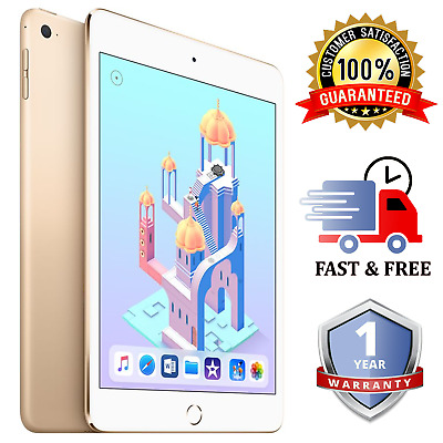 "Apple iPad Mini 4 | 7.9"" -Gold- Retina Display- Wi-Fi - 32GB/16GB Various Grades"