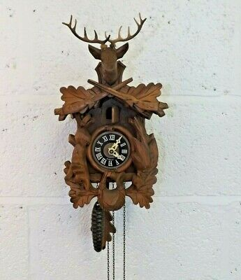 German Made Cuckoo Clock.  Clock Working but Cuckoo in Trouble.   (Hospiscare)