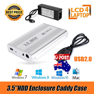 3.5''SATA External USB2.0 Hard Disk Drive HDD Enclosure Caddy Case For PC Laptop